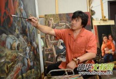生命力的源泉--访著名画家靳军