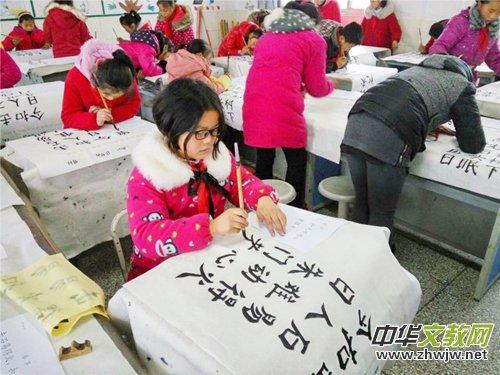 黄河灌南三口兴趣小学小组书法硕果累累江苏画小学生图片