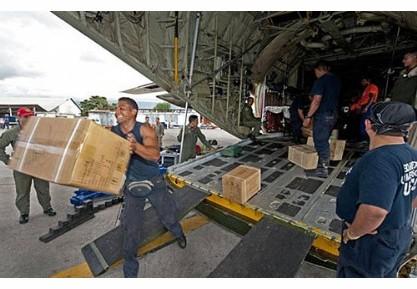 <b>各国救援物品陆续运抵海地</b>