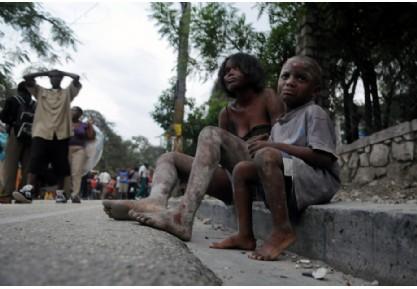 海地太子港震后满目疮痍 民众惊魂未定