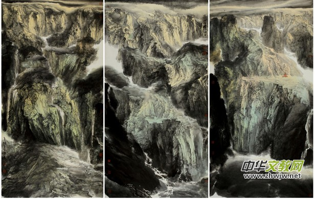 著名书画家俞文杰山水画欣赏